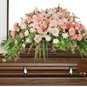 Pink Casket Spray