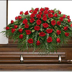 Red Casket Spray